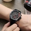 นาฬิกา Mini Focus หน้าปัดดำตัดแดง สวยคุณภาพเยี่ยม