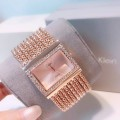 นาฬิกา design สร้อยประดับล้อมเพชร สีทองชมพูสวยมาก