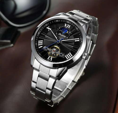 นาฬิกาออโต้ Forsining หน้าปัดสีดำ สุดหรู