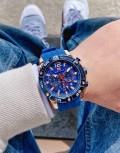 นาฬิกา Mini Focus รุ่นสายยางสุดเท่ห์ สีฟ้าน้ำเงินสวยโดดเด่นสุดๆ