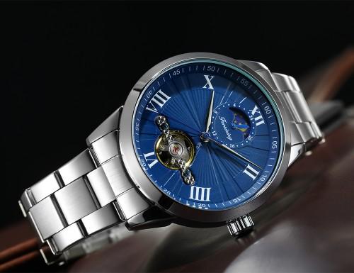นาฬิกาออโต้ Forsining หน้าปัดสีน้ำเงิน สุดหรู