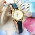 นาฬิกาสายหนังสีเขียว แบรนด์ Julius หน้าปัดสีทองสวยหรู