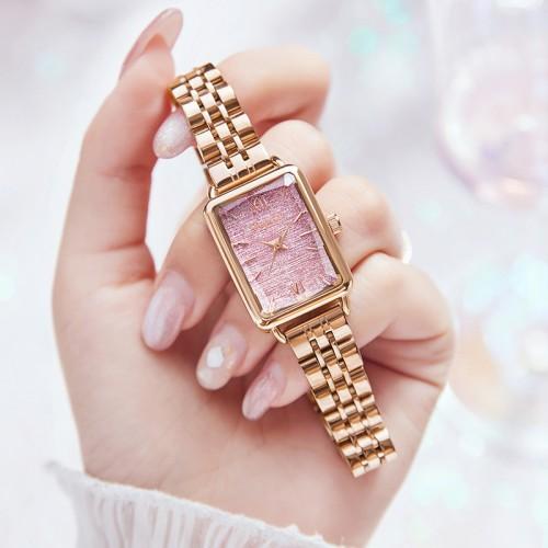 นาฬิกา Daybird หน้าปัดลายสวยสีชมพู สวยหรูมากๆ