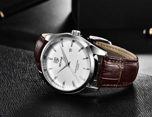 นาฬิกา BENYAR งานพรีเมียม สีน้ำตาลคุณภาพดี หน้าปัดสวยหรู
