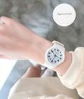 นาฬิกาสายยางเกรดพรีเมียม Julius สีขาว สวยน่ารักมาก