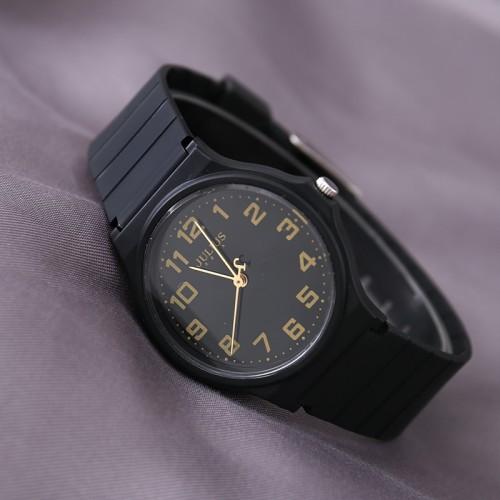 นาฬิกาสายยางเกรดพรีเมียม Julius สีดำ สวยน่ารักมาก