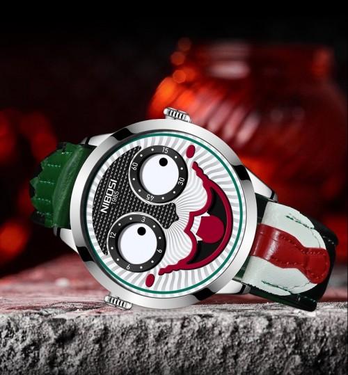 นาฬิกา NIBOSI สายหนัง หน้าผีสีดำสวยแปลกประหลาดสุดๆ