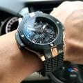 นาฬิกา MEGIR สายยาง สีดำสวยหรูสุดเท่ห์งานพรีเมียม