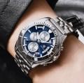 นาฬิกา BENYAR พรีเมียม สายสแตนเลส หน้าปัดน้ำเงินสวยหรูมาก