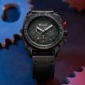 นาฬิกา WISHDOIT หน้าปัดดำ สายหนัง สไตล์สปอร์ตสวยเท่ห์