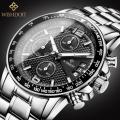 นาฬิกา WISHDOIT สายสแตนเลส หน้าปัดดำ สวยหรู